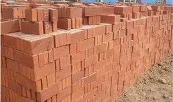 Clay Rectangular Red Bricks, Size: 8'4'4