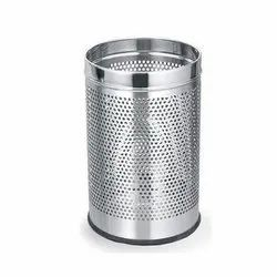 Stainless Steel Open Perforated Dustbin