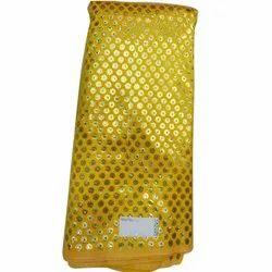Golden Ladies Brocade Dress Material