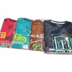 Casual Wear Full Sleeves Kid Round Neck Cotton T Shirt, Size: S to XL