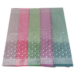 Casual Wear Printed Fancy Polyester Cotton Sarees, 6 m (with blouse piece)