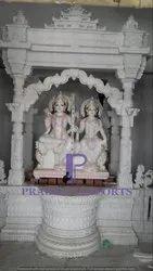 Marble Temple with Ram & Sita Moorti