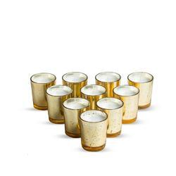 Mercury Glass Votive Candle Gold