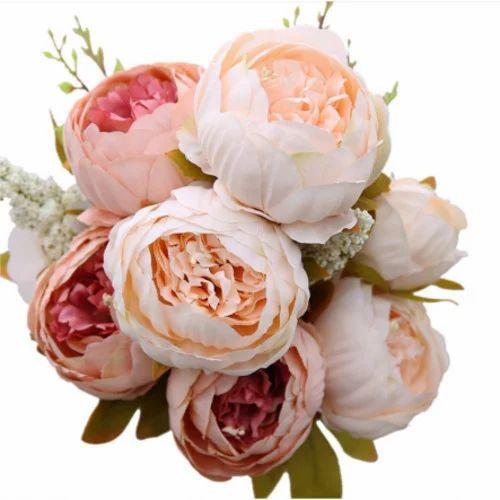 Light orange and peach artificial peony silk flower rs 100 piece light orange and peach artificial peony silk flower mightylinksfo