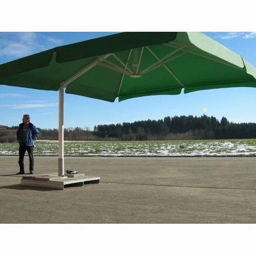 Green Cantilever Patio Umbrella
