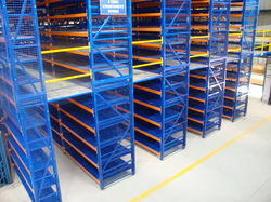 Blue Paint Coated Metal Storage Rack, For Warehouse