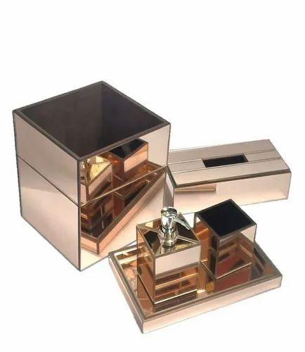 Rose Gold Mirror Bathroom Set At Rs, Rose Gold Bathroom Mirror Cabinet