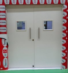 Steel Powder Coated Metal Door, Thickness: 45mm, Material Grade: Gi Zinc Plated