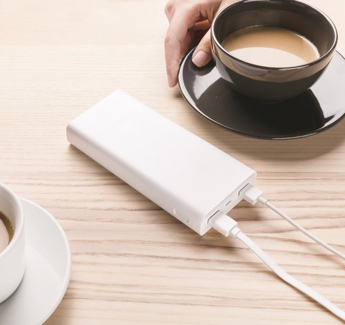 White 20000mAh Mi Power Bank 2i