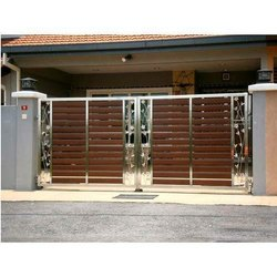 Swing Polished Stainless Steel Safety Gate, For Residential