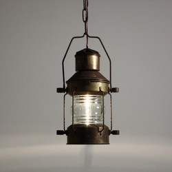 Deluxe Vintage Nautical Brass Hanging Lantern
