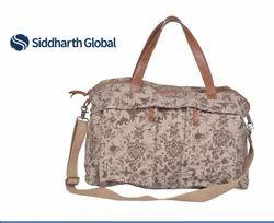 Premium Printed Cotton Duffel Bag