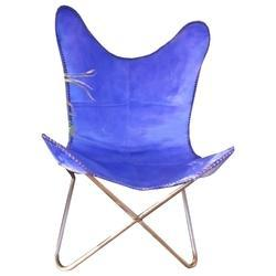 Purple Leather Butterfly Chair, Size: 75 x 85 x 95 cm