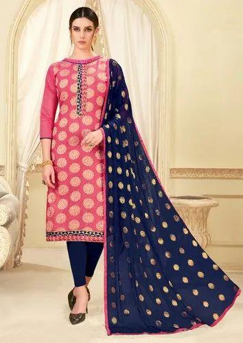 Blissta Banarasi Silk Fancy Party Wear Straight Suit