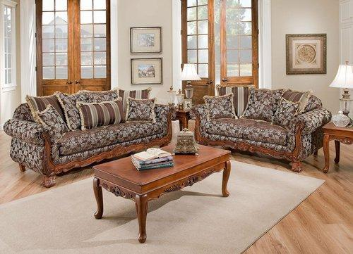 Textured Fabric Traditional Living Room, Traditional Living Room Furniture