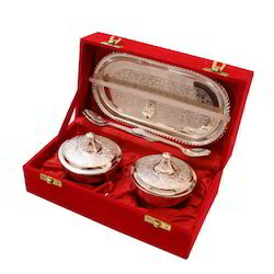 German Silver Two Dibbi Set