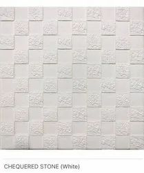 Chequered Stone (White) Wall Panels