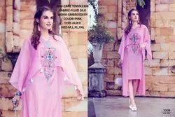 Rachna Fluid Silk Pattern Cut Work Cape Town Catalog Kurti For Women 8