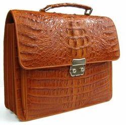 Crocodile Leather Briefcase Bag