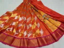 Pink Woven Pure Silk Handmade Paithani Silk Saree