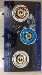 CHOICE SURYA CRYSTAL Mix Colours 3 Burner Gas Stove, For Kitchen Use