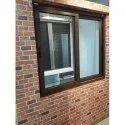 Light Oak Wooden Laminated Upvc Sliding Window