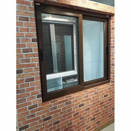Laminated UPVC Sliding Window