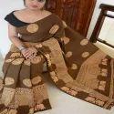 Linen Chanderi Silk Digital Print Saree
