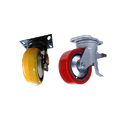 Cast PU CI Core Trolley Wheel