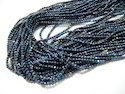 Black Spinel Blue Coated Beads