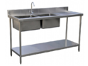SS Work Table With Sink-2-U-S
