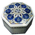 White Marble Luxury Jewelry Box Inlay Art Beautiful Utility