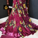 Ladies Printed Silk Saree