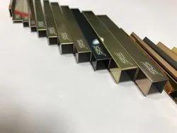 PVD Titanium Coated U Shape Profiles