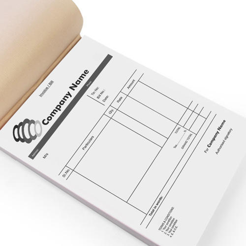 printed bill book at rs 55 piece invoice book id 15464656412