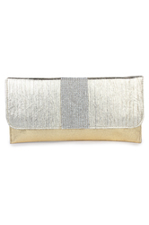 White Dicure Manufacturer of Women Party Silver Gold Clutch