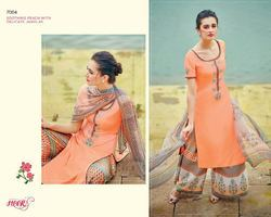 Peach Color Graceful Designer Straight Salwar Suit