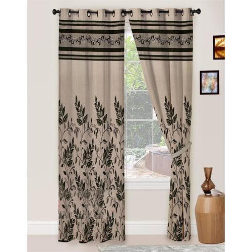 Printed Polyester Curtain Size 7 Feet