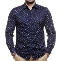 Collar Neck Mens Printed Cotton Shirt