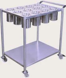 Silver Kitchen Masala Trolley, Size: 20 X 20 X 30 Inch