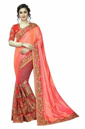 fd13fdaad2 Half Net Designer Embroidered Bollywood Saree, Rs 1525 /piece | ID ...