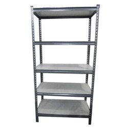 Dark Grey Mild Steel Powder Coated Slotted Angle Storage Rack