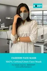 100% Cotton Double Layered Eco-Friendly Non Surgical Premium Fashion Face Mask