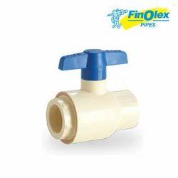 White Finolex Flow Guard Ball Valve CTS Socket