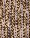 """44-45"""" Multicolor Linen Block Printed Fabric, For Garments, Gsm: 100-150"""
