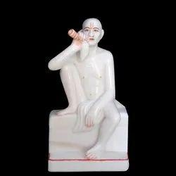 White Marble Gajanan Maharaj Marble Statue