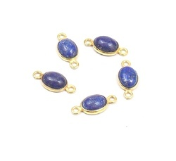 Natural Lapis Gemstone Connector