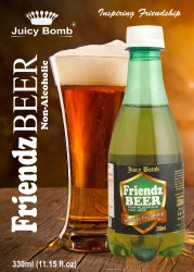 Friendz Beer Non Alcoholic Sparkling Drink With Lemon Flavor