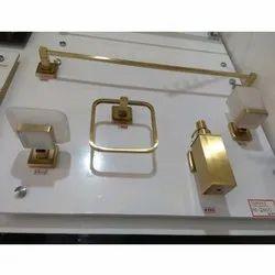 Golden Brass Bathroom Fitting