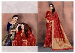 New High Printed Silk Saree